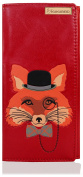 KukuBird Fox Pattern Large Size Ladies Purse Clutch Wallet