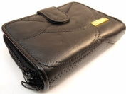 LADIES QUALITY LUXURY SOFT LEATHER PURSE DESIGNED BY LORENZ IN 5 COLOURS 4621