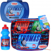 Boy's Thomas The Tank & Friends School Lunch Bag, Water Bottle & Lunch Box Set