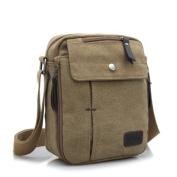 Fendior Men's Canvas Weekender Messenger Bag Boy Zipper Shoulder Bag