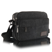 Qutool Men's Fashion Retro Small Casual Canvas Shoulder Bags Cross Body Day Pack Bags