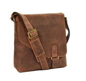 Mens REAL Leather Shoulder Bag TAN Vintage Messenger Casual TOP QUALITY iPad BAG A761