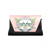 Household Dream Customise Skull PU Leather Clutch Bag Evening Bridal Party Wedding Fashion Prom Bag