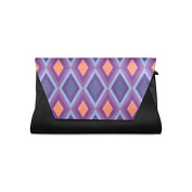 Household Dream Customise Chevron PU Leather Clutch Bag Evening Bridal Party Wedding Fashion Prom Bag