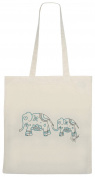 Zest Canvas Shopping Bag with Mandala Elephants