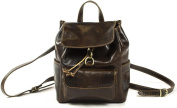 Genuine Italian Leather Small Ladies Vintage Style Backpack Satchel Rucksack Leisure Bag