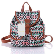Casual Canvas Backpack Printed School College Backpack for Teen Girls/Students