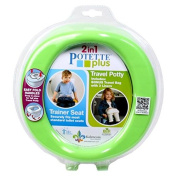 Potette Plus Portable Potty and Toilet Trainer Seat, Green/Blue