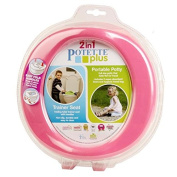 Potette Plus Portable Potty and Toilet Trainer Seat Pink/Purple