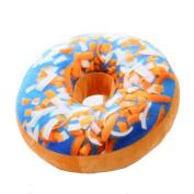 Leegoal(TM) 3D Doughnut Donut Shape Seat Sofa Back Stuffed Cushion For Decor Home Office Throw Pillow Waist Pillow Plush Play Toy Doll,Blue