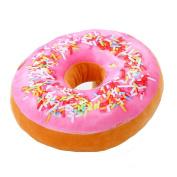 Leegoal(TM) 3D Doughnut Donut Shape Seat Sofa Back Stuffed Cushion For Decor Home Office Throw Pillow Waist Pillow Plush Play Toy Doll,pink+orange