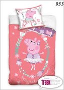 2 Pcs Peppa Pig Children's Duvet Set 140 x 200 cm + 70x90 953