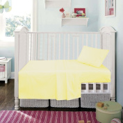 Cot Bed 70 x 140 cm Yellow Superior Egyptian Cotton Fitted Sheet By Sleep & Smile : Yellow