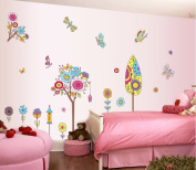 Winhappyhome Kids Wall Stickers Cartoon Tempera Sticker for Bedroom Living Room Nursery Background Removable Decor Art Decals