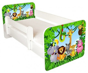 TODDLER BED WITH FREE MATTRESS ...JUNGLE DESIGN