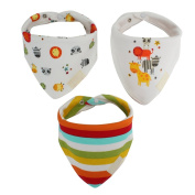 Cute Animals and Rainbow Pattern Baby Bibs
