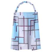 WayIn® Colourful Breast Feeding Nursing Cover with Blue Stripes