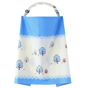 WayIn® Colourful Breast Feeding Nursing Cover with Blue Leaves