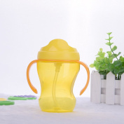 260ml Baby Cup Infant Learn Drinking Straw Handle Bottle Sippy Cup BPA Free SAFE