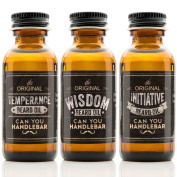 Wisdom, Initiative & Temperance Beard Oil SET l Woodsy, Citrus & Unscented by CanYouHandlebar
