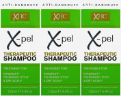 Xpel Therapeutic Shampoo (3 x 125ml) Treatment for Dandruff Psoriasis Dry Itchy Scalp