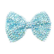 Large Crystal Dimante Bow Hair Clip by Lizzy®