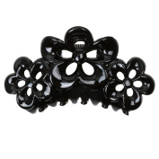 Phenovo Large Flowers Floral Hair Clamp Claw Clip Comb Grip Multi-colour - Black, taille unique
