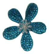 Pick a Gem Wedding Hair Accessories / Blue Coated Crystal Flower Hair Clip / Flower Brooch / Bridal Accessory / Wedding Corsage