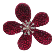 Pick a Gem Wedding Hair Accessories / Red Coated Crystal Flower Hair Clip / Flower Brooch / Bridal Accessory / Wedding Corsage