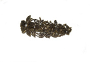 BEAUTIFUL GOLD FLOWER CLUSTER BARRETTE - VINTAGE STYLE 10CM HAIR CLIPS