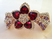 Rose Lilac Crystal Hair Jewellery Clamp Barrette