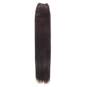 Euro Silky Weave | Human Hair Extensions | 60cm | Barely Black (1b) American Pride