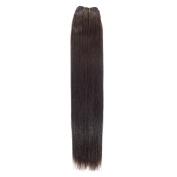 Euro Silky Weave | Human Hair Extensions | 60cm | Barely Black (1b) American Pride