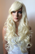 PRETTYSHOP Fashion Lady Natural Full WIG Curl Long Hair Heat-Resistant Platinum Blond WLR3