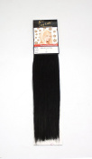 1 st Lady Silky Straight Natural European Weft Human Hair Extension with Premium Blend Weave, Number 1, Jet Black, 36cm