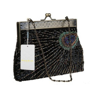 Women's Unique Luxury Sequins Beaded Evening Bag Wedding Bridal Party Prom Clutch tote Handbag