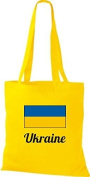 ShirtInStyle Tote bag Cotton bag Country jute Ukraine ukraine - Yellow, 38 cm x 42 cm