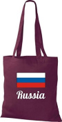 ShirtInStyle Tote bag Cotton bag Country jute Russia Russia - Wine Red, 38 cm x 42 cm