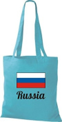 ShirtInStyle Tote bag Cotton bag Country jute Russia Russia - Sky, 38 cm x 42 cm