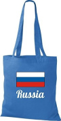 ShirtInStyle Tote bag Cotton bag Country jute Russia Russia - Royal, 38 cm x 42 cm