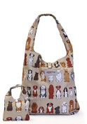 JUSTICE ECO-FRIENDLY SHOPPER TOTE WATERPROOF BAG WITH POUCH