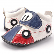 New Autumn Baby Leather First Walking Soft Sole Shoes Like a Car (UK2