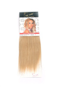 1st Lady Silky Straight Natural European Weft Human Hair Extension with Premium Blend Weave, Number 24, Light Golden Blonde, 25cm