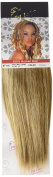1st Lady Silky Straight Natural European Weft Human Hair Extension with Premium Blend Weave, Number P12/613, Caramel Brown/Lightest Blonde, 25cm