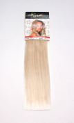 1st Lady Silky Straight Natural European Weft Human Hair Extension with Premium Blend Weave 80 g, Number 60, Ash Blonde, 30cm
