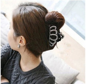 Korean Disc Hair Hair Accessories Hair Clips Large Diamond Crown Hairpin Hair Gripper Acrylic
