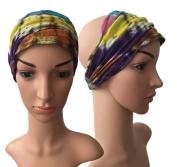 Gringo - Fair Trade Tie Dye Cotton Hair Head Dread Band Dreadlocks Wrap - Unisex - DEEP MIX