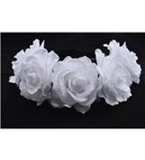 BFD One boho floral head garland flower headband floral headdress wedding festival large white flowers on elastic