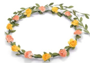 BFD One boho floral head garland flower headband floral headdress wedding festival