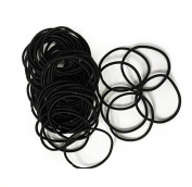 Black Snag Free Thin Elastic Hair Bands by Lizzy®